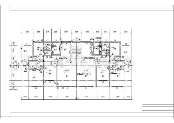 某地大型经典别墅户型建筑图(全套)-图2