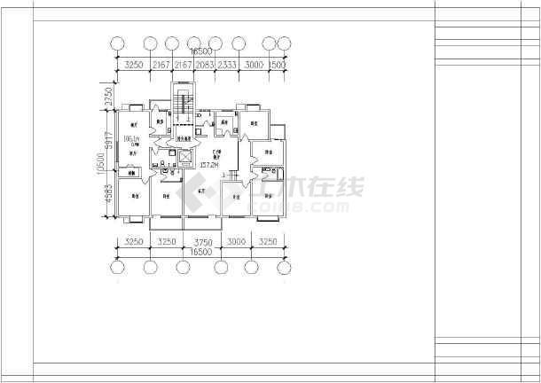 某地大型经典别墅户型建筑图(全套)-图3