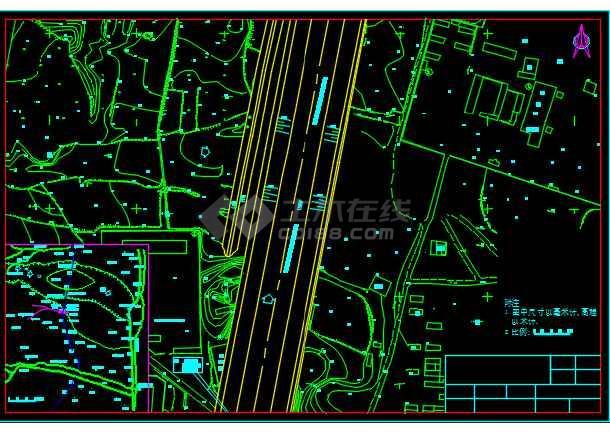 某地农村小型渡槽工程设计CAD施工图-图1
