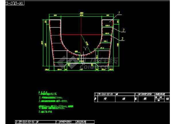 路桥工程渡槽结构与模板CAD设计套图-图1