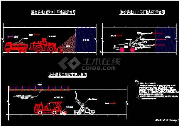 水利工程联合进水口土方工程施工图-图1