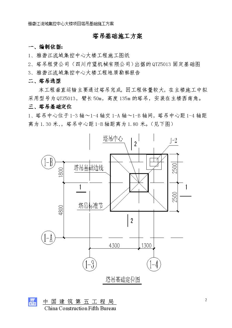 塔吊原理结构图