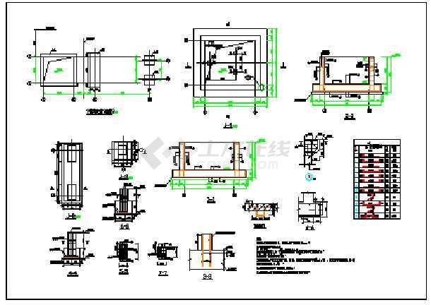 钢结构电梯加楼梯平台节点详细图纸