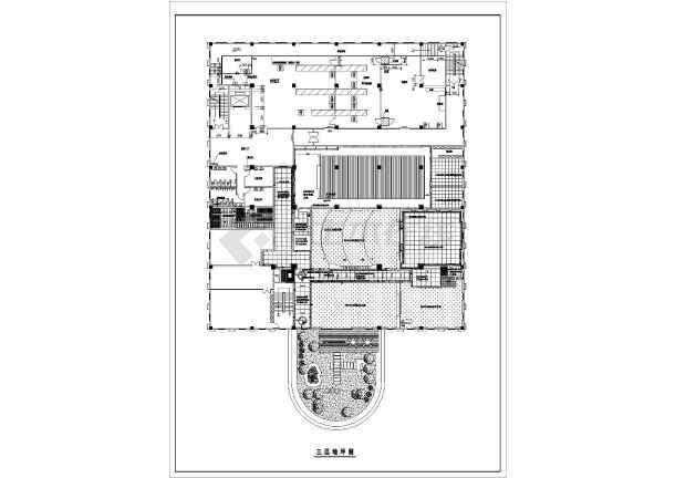 某图纸办公室装修设计v图纸CAD图纸_cad户型图纸工厂水印蓝山图片