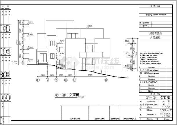 某地区的别墅园A户型别墅建施图纸-图3
