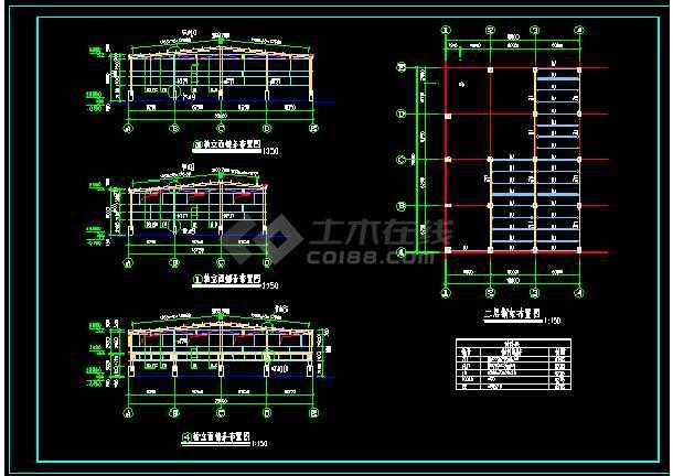 夹层钢结构图纸,配详图-图2