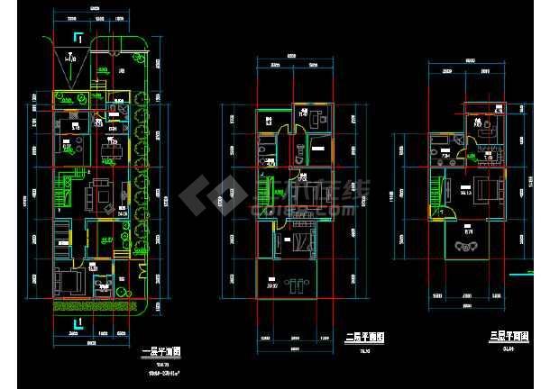 农村自建房长条形户型设计参考cad图图片2