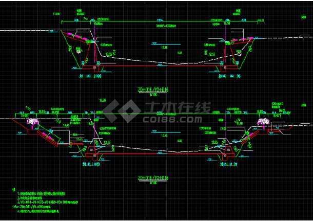 小流域堤防加固工程设计CAD施工图(含招标文件)-图2