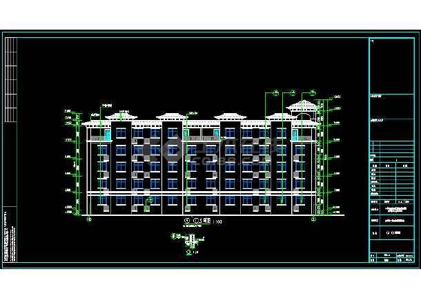 某三层局部两层别墅建筑设计图-图1