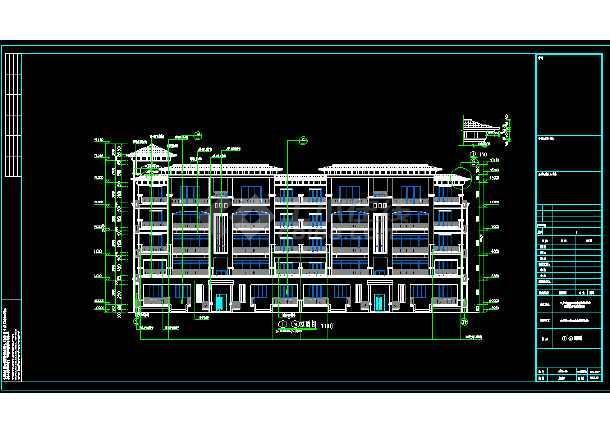 某三层局部两层别墅建筑设计图-图2