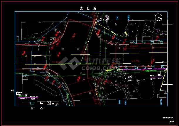 路人行横道排水设计图纸