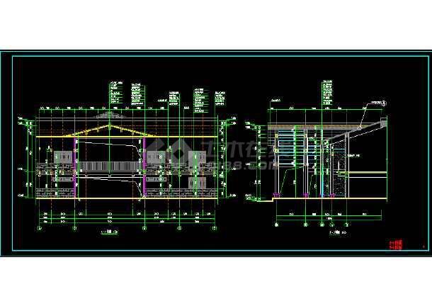民族风格仿古两层木结构建筑设计图-图3