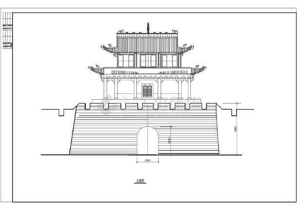 设计长城古建专门修补cad详细施工图纸ht29292929dd989898dd986986986dd8585图纸图片