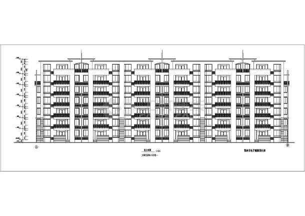 某地区商住楼房建筑设计cad施工平立剖面