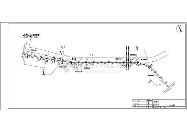 某地图纸安装36芯电气火车光缆cadv图纸施工图小托马斯区局工程布放图片