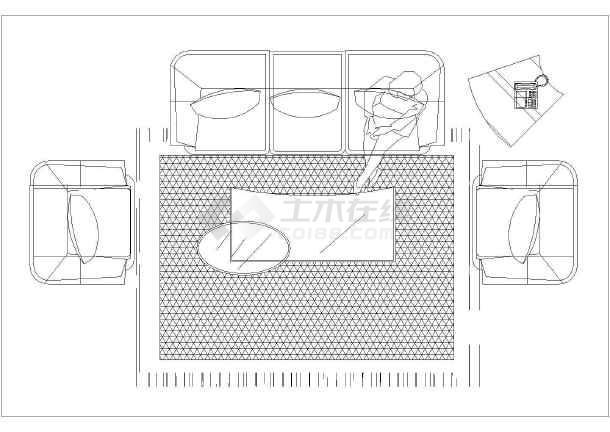 室内常用的办公家具cad平面精简素材图块