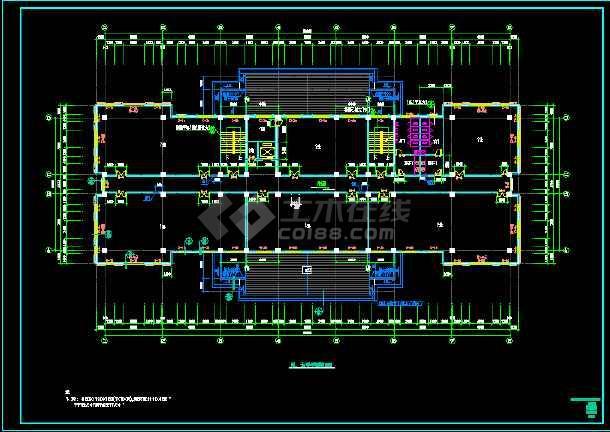现代欧式风格办公楼cad全套施工设计图