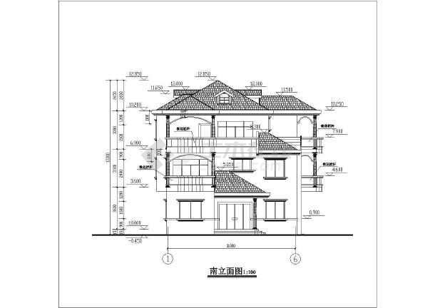 三层别墅建筑施工图纸(含尺寸和常用图)a2结构模型是多少图纸图片