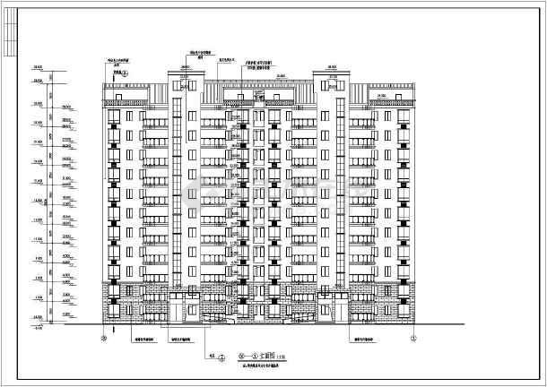南方某地11层小住宅高层CAD试验图纸全套抽设计真空cad图图片