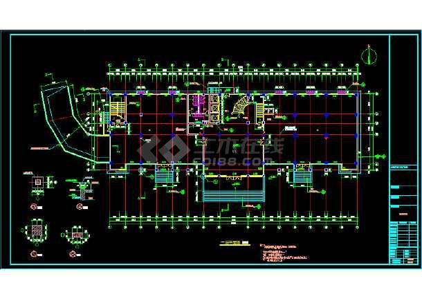某大型灯具城建筑结构cad设计施工方案图纸图片