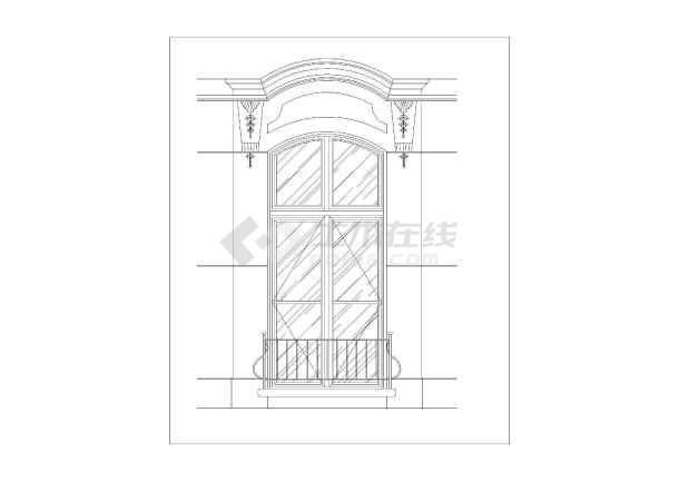 欧式传统建筑元素室内cad装修素材精美窗台