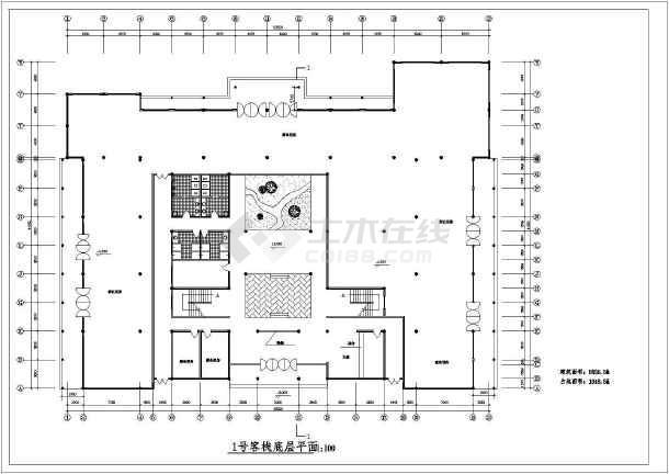 某地区民居式古宅图纸建筑cad图纸_cad客栈下一4图纸v民居二层米改层图片