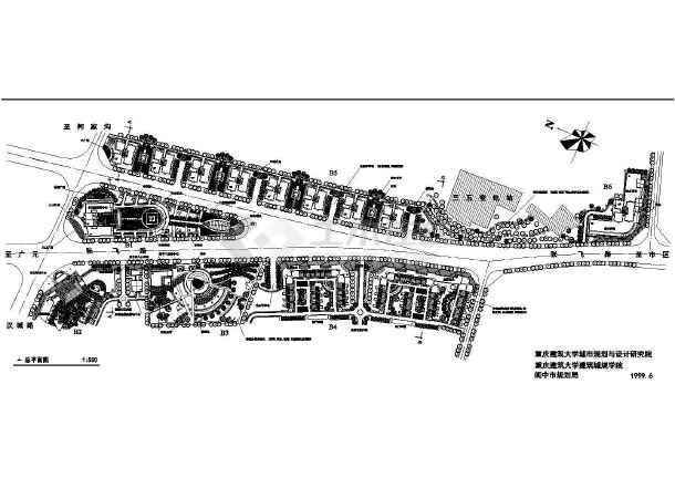 某一线城市修建性规划cad施工精简图-图1