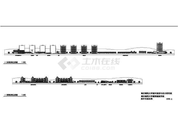 某一线城市修建性规划cad施工精简图-图2