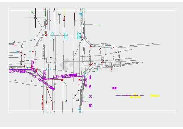 莫城市道路电力电信管线设计图纸图片