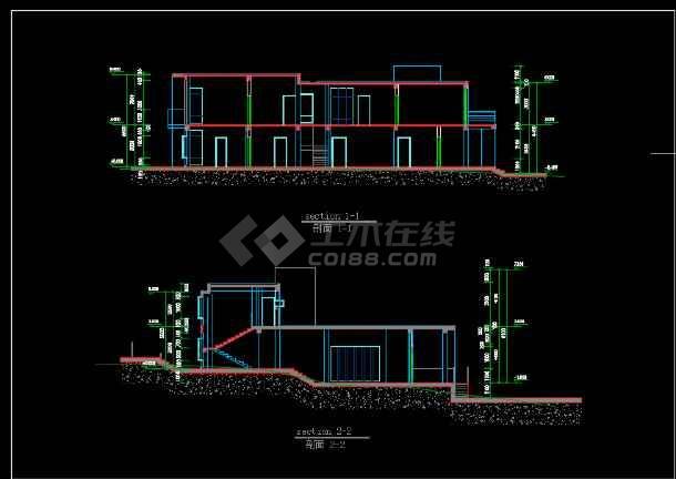 某高速公路收费站建筑施工图纸(含效果图)-图1