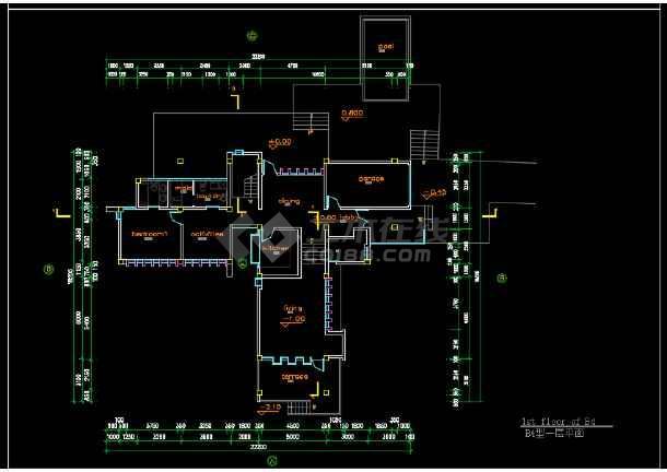 某高速公路收费站建筑施工图纸(含效果图)-图2