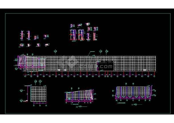 某高速公路收费站建筑施工图纸(含效果图)-图3