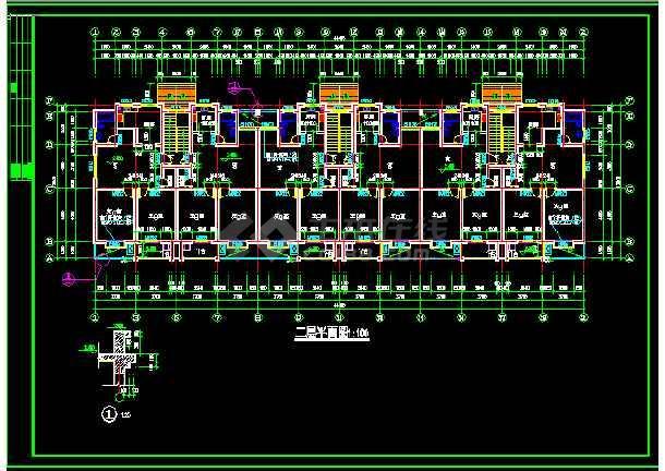单元式多层住宅建筑施工CAD设计图纸