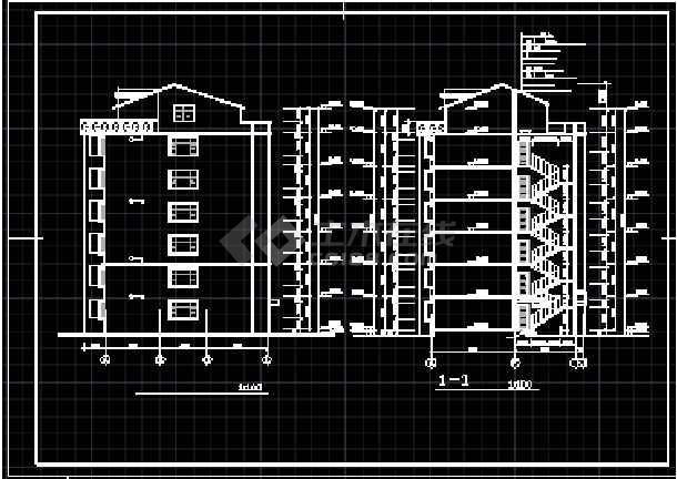 跃层及屋顶窗住宅建筑cad施工设计图纸