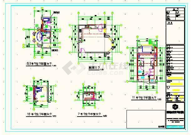 江苏常州某工地装修施工CAD简图-图2