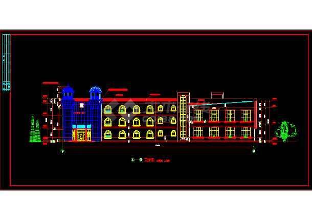 2017年终整理的精选50套幼儿园建筑设计施工图大全-图2