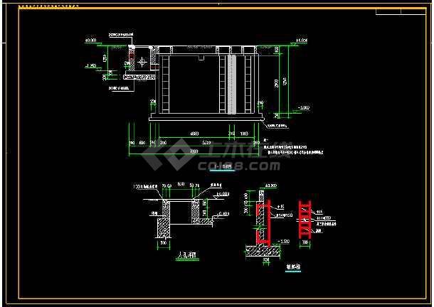 15t/d农村生活污水处理工程施工图纸(厌氧池 人工湿地)图片