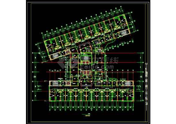 某第一中心医院建筑设计图纸(共5张)-图1