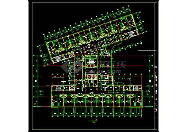某第一中心医院建筑设计图纸(共5张)-图2