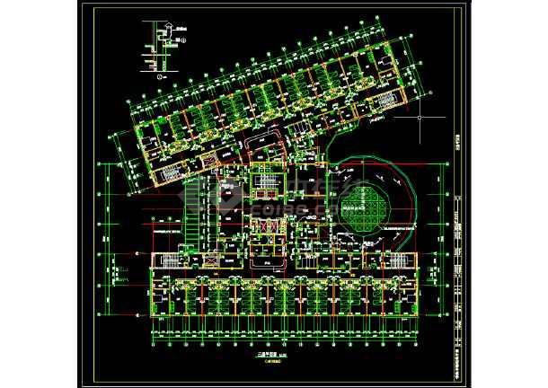 某第一中心医院建筑设计图纸(共5张)-图3