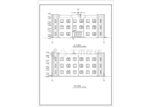 某设计院三办公楼建筑设计方案图纸
