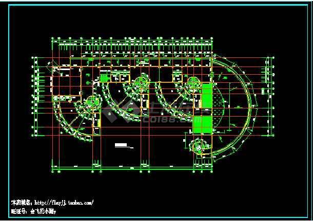 长59.4米 宽29米 三层幼儿园平立剖面设计图(无屋顶平面图)
