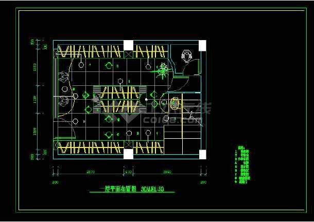 小服装店建筑施工v全套全套CAD平面图_cad图cad体异性一个如何画面积的图片