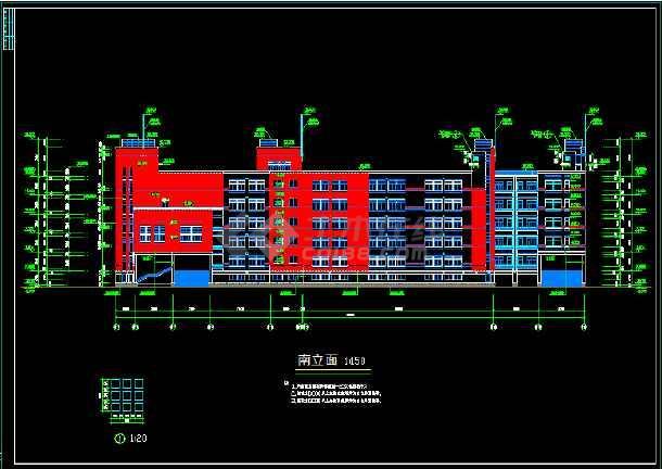 某意思五层教学楼综合楼CADv意思图纸cad原点中学什么图片