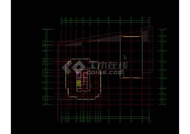 高层写字楼建筑设计CAD图(共16张)-图1