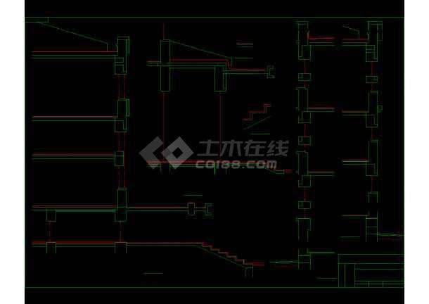 电力大队办公楼详细CAD图(内含11张图)-图2