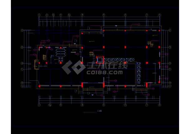 多层办公楼详细施工CAD图(共24张)-图1