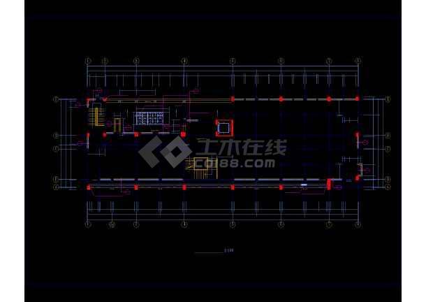多层办公楼详细施工CAD图(共24张)-图2