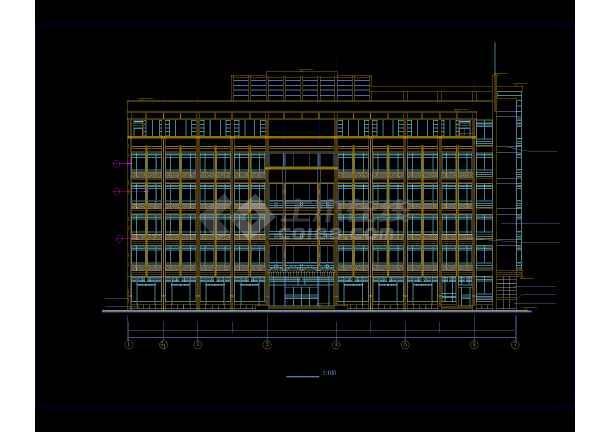 多层办公楼详细施工CAD图(共24张)-图3