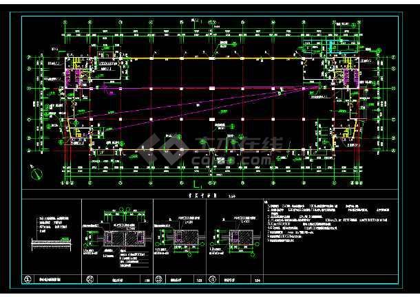 某地区某中标厂房设计cad建筑施工图纸2010cad显示选择不框图片